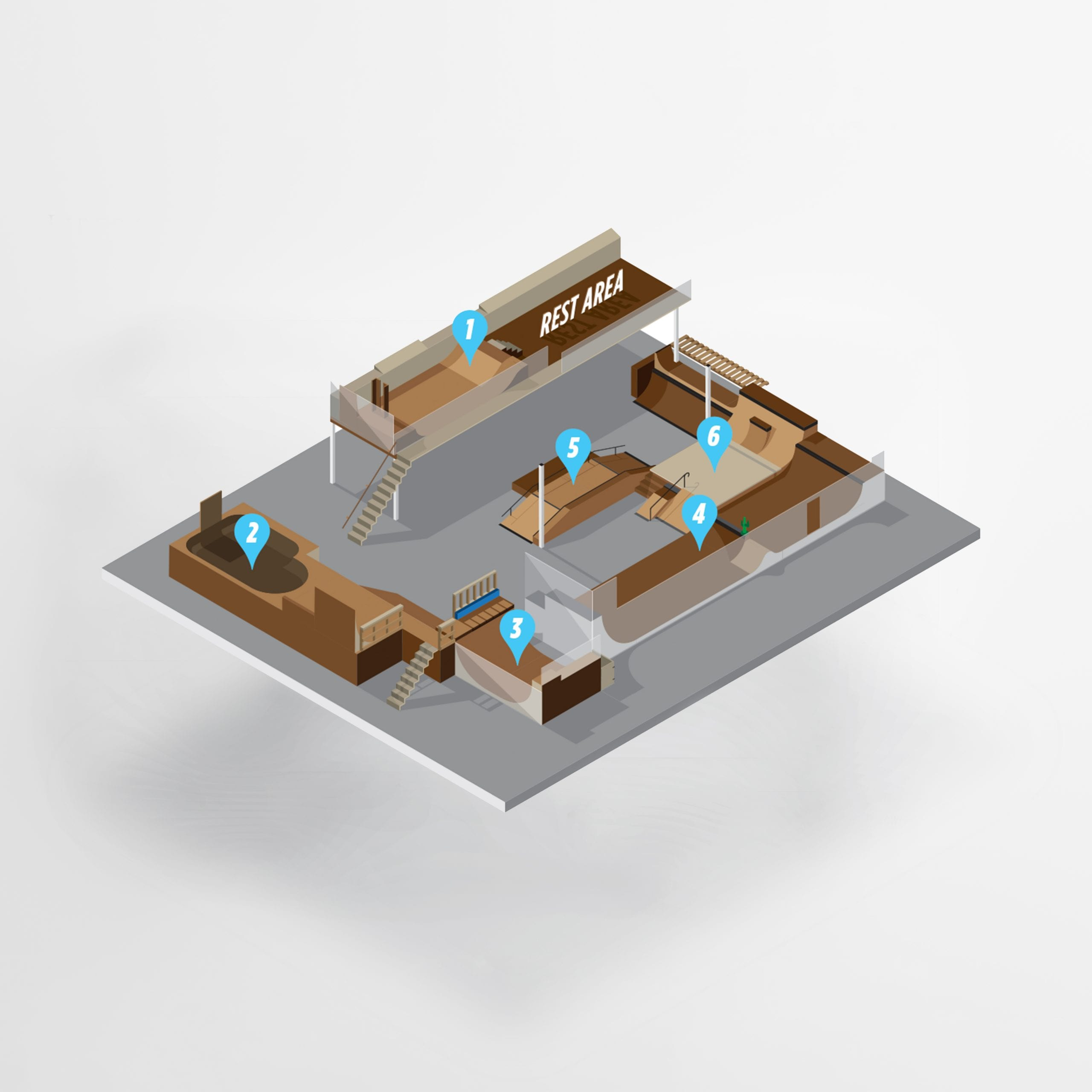 Skate Park Isometric Map